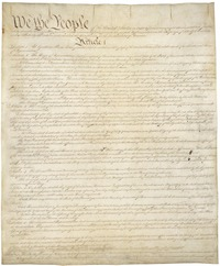Constitution of the United States, page one