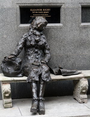 "Eleanor Rigby statue in Stanley Street, Liverpool dedicated to ""All the Lonely People…"""
