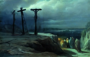 Night at Golgotha by V. Vereshchagin (1869)