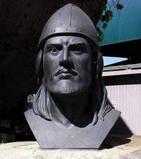 Bust of Leif Erikson in Cleveland, Ohio