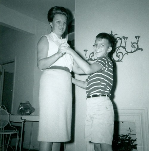 Dancing with Mom, ca. 1958